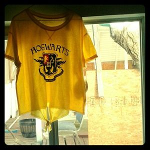 2 for $20 Yellow Harry Potter Hogwarts Top